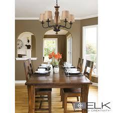 Elk Lighting Early American Billiard Island Lighting - Early american dining room furniture