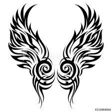 Flaming Wings Tribal Tattoo Vector Ornament Buy This Stock Vector