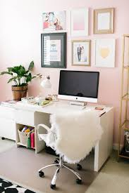 girly office. Blush Pink Office Walls, Inspiration/ Home Office/ Decor/ Cozy, Girly Workspace