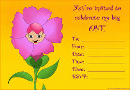 1st birthday invitation for s featuring a cute little baby as a flower