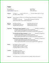Resume Sample Fresh Graduate Business