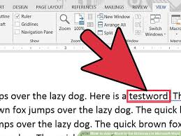 Microsoft Word Vocabulary How To Add A Word To The Dictionary In Microsoft Word 9 Steps