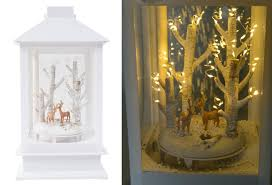 Led Laterne Schneiender Winterwald Weihnachtsdeko Fensterdeko Tanne Rehe Hirsche Designhirsche Hell
