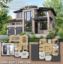 Architectural Design For House Plans Plan 80917pm Contemporary 3 Bedroom House Plan With 2 Car