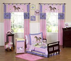 Excellent Decorating Ideas For Toddler And Little Girls Bedroom : Cute  Horse Theme In Pink And ...