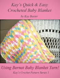 Bernat Baby Blanket Yarn Patterns Mesmerizing Crochet Pattern Quick Easy Crochet Bubblegum Blanket Made With