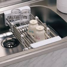 Kitchen Drying Rack For Sink Decoration Attractive Grey Lime Dish Drying Rack Designed Fold