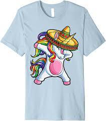 Dabbing Unicorn T shirt Cinco de Mayo ...