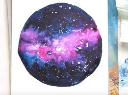 Simple Watercolor Painting Mini Nebulas Using A Variegated Wash