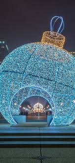 Huge Net Lights Huge Christmas Ball Holiday Lights Night Paris France