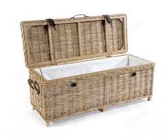 rattan storage bench. Perfect Storage Rovicon Maya Grey Wash Rattan Storage Bench For O