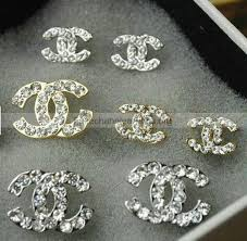 chanel double c earrings. fake 2012 latest chanel double c diamond studs earrings knockoffs...i want the a