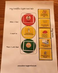 Traffic Light Mood Chart Traffic Light Toolkit For Emotional Regulation Elsa Support