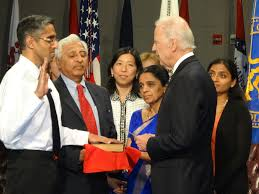 The son of indian immigrants, murthy received md and mba degrees from yale and taught internal medicine at harvard. Vice President Biden Swears In Indian American Vivek Murthy For Top Post Of Us Surgeon General Indian American Community News