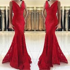 <b>Hot Sell Sexy</b> Red Mermaid Evening Dresses Wear <b>2019</b> Gorgeous ...