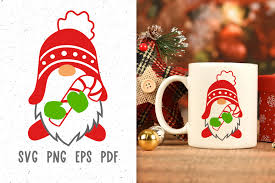 Free svg image & icon. Christmas Mug Design With Gnome Svg Graphic By Greenwolf Art Creative Fabrica