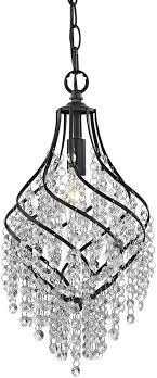 sterling 122 018 mowbray dark bronze with clear crystal mini pendant lamp loading zoom
