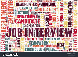 Word Cloud Related Job Interview Employment Stock Vector Royalty