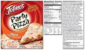 frozen pizza nutrition facts ftempo