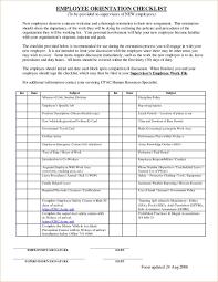 Staff Orientation Checklist New Employee Orientation Checklist Examples Pdf Job Specific