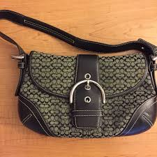 COACH Soho Mini Signature Flap Hobo Handbag