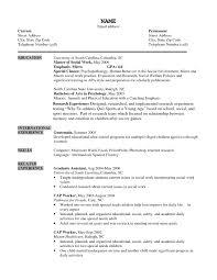Sample Work Resume Social Worker Resumes Samples Experience