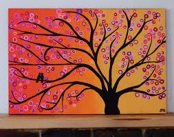 simple canvas paintings beginners portfolios tree art