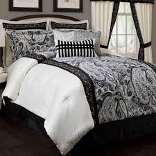 black and white paisley bedding sets stunning full