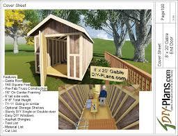 8x20 gable storage shed plan