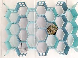 view in gallery honeycomb metal wall art
