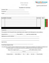 Quote Forms For Contractors Free Quote Forms For Contractors Lovetoknow Blank Quote Forms