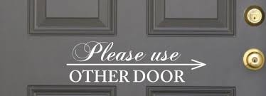 Real Estate Quotes Simple Please Use Other Door R Decal Vinyl Lettering Wall Decals Words