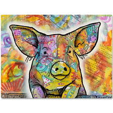 cute pig farm animal dean russo metal sign pop art pet wall decor 16 x 12 on metal pig wall art with pig sign ebay