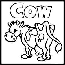 Small Picture Simple Cow Drawing Coloring Coloring Coloring Pages