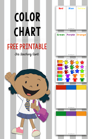 So, download free color chart templates that are easily available online! Color Charts For Toddlers And Preschoolers Free Printable The Teaching Aunt