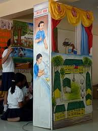 world water day  children presenting a puppet show for the my school toilet contest in cagayan de oro 2010 world water day