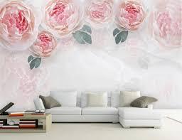 Flower Design Wallpaper 3d Pink Rose Flower Wallpaper 3d Wall Murals Home Wall Decor Canvas Print Art Floral Paper Contact Paper Papel De Parede Wallpaper For Desktop Background