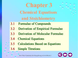 chapter 3 chemical equations and stoichiometry