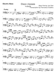 Disco Ulysses Electric Bass Sheet Music For Bass Download