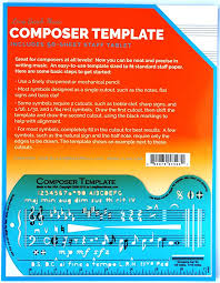 Music Staff Paper Template Amazing Amazon Song Writer's Composing Template Stencil For Music Notes
