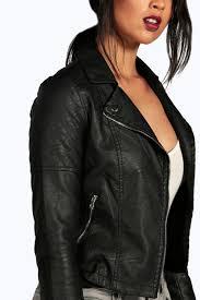 black torah faux leather biker jacket dzz73862 gtedrvb