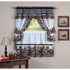 Exceptional Guimauve Mason Jar Cottage Kitchen Window Treatment Set