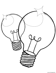Light Bulb Coloring Page Color Pages Lightlb Coloring Page Image Ideas