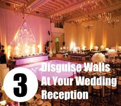 how to disguise walls at your wedding reception tips decorate