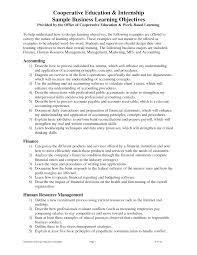 Objectives For Internship Resume Marketing Objective Electrical