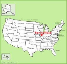 springfield (illinois) location on the us map