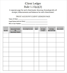 Accounting Ledger Templates Sample Account Ledger Template 7 Free Documents Download