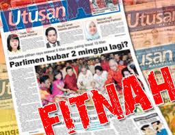 Image result for fitnah utusan malaysia