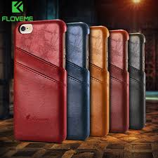 floveme luxury leather case for iphone 6 6s plus phone cases fashion wallet card holder cover