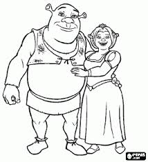 Small Picture Coloring Shrek and Fiona shrek Pinterest Shrek Free